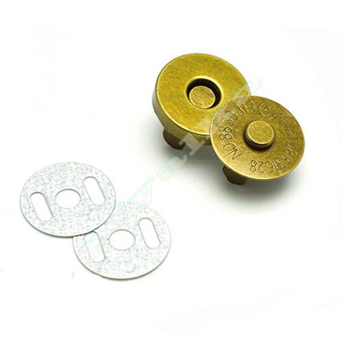 Магнитная кнопка для сумки 14 мм. античная латунь