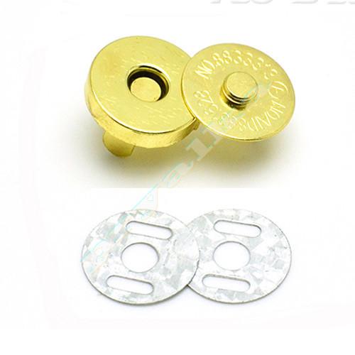 Магнитная кнопка для сумки 18 мм. золото