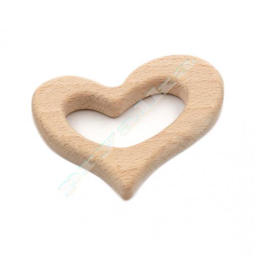 """Прорезыватель для зубов деревянный """"Сердце"""""""