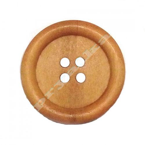 Пуговица деревянная 25мм тонированная