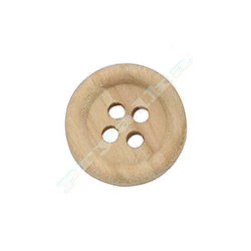 Пуговица деревянная натуральная 15 мм. (арт. 000004)