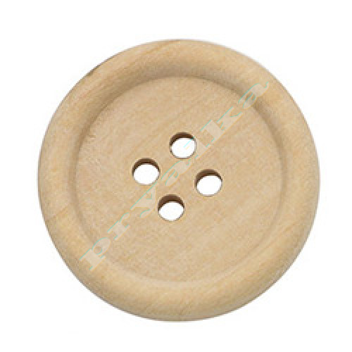 Пуговица деревянная натуральная 25 мм. (арт. 000006)