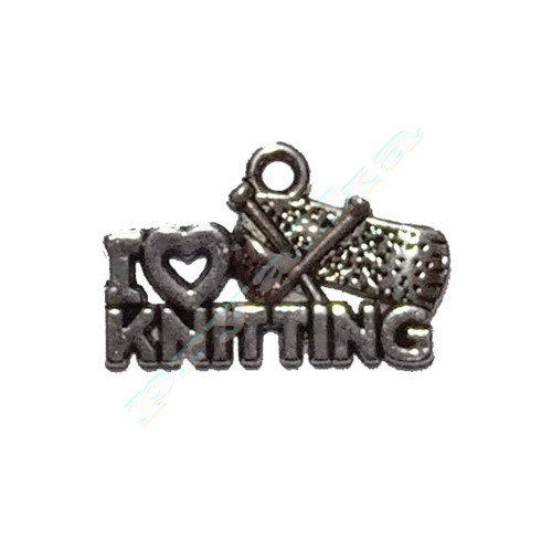 """Подвеска """"I love knitting"""""""
