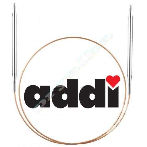 Спицы Addi круговые супергладкие, никель