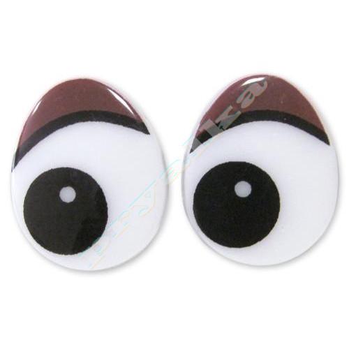 """Глазки винтовые """"овал"""" 18 х 22 мм (коричневый)"""