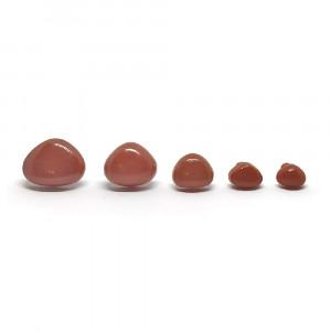 Носики для игрушек коричневые 8-17 мм