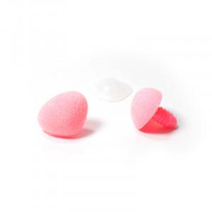 Носик 15х20мм винтовой бархатный  розовый