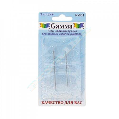 Иглы ручные Гамма N-001 для вязанных изделий