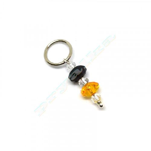 Маркеры для вязания оранжево-черный