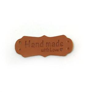 "Нашивка ""Hand made"" фигурная ПУ"