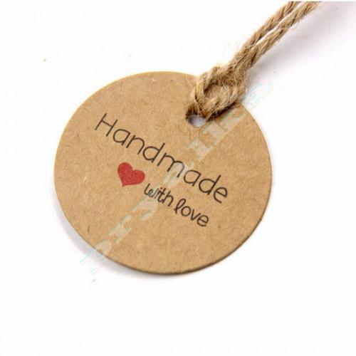 """Бирка """"Handmade with love"""""""
